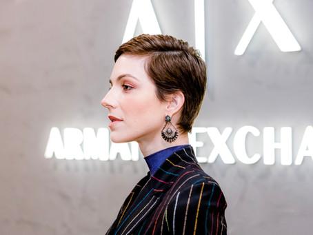 Make Natural e Look Glam para a Inauguração da A/X Armani Exchange