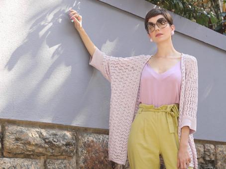 Como usar tricot no verão? Confira uma inspiração de look colorido e cool
