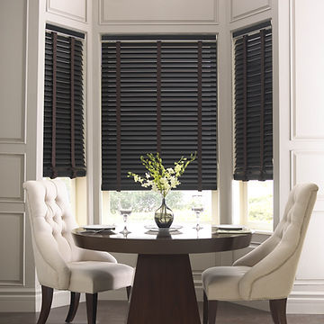 Wood Blinds for a Bay Window