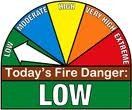 Fire Danger Level has dropped to Low