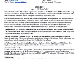 Milli Fire Update 08-24-2017