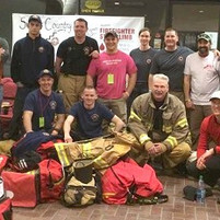 Firefighters take on stair challenge - Local firefighters raised $25,000 for cancer research.photo