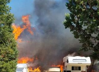 Wind-fanned Cloverdale fire destroys home, burns 1.5 acres