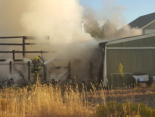Cloverdale firefighters knock down coop blaze