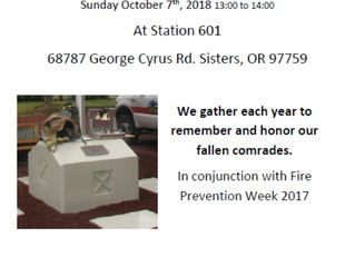 Annual Cloverdale Fire District Memorial