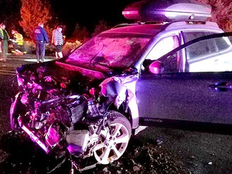 Driver extricated from three-car wreck