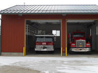 Cloverdale fire station progressing Cloverdale's rigs are in their new home.
