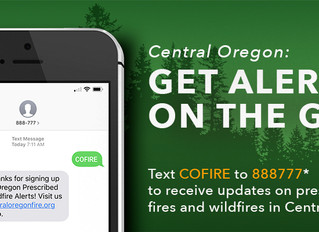 Prescribed Fire Text Alerts now available