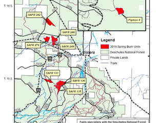 Forest Service, Sisters Ranger District is planning to light the first spring prescribed burn tomorr