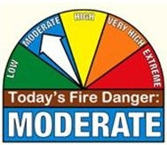FIRE DANGER RATING has dropped to MODERATE.