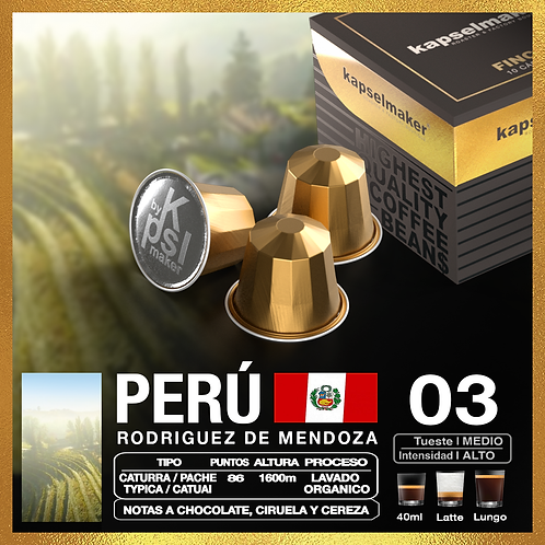Perú , Fincas de Especialidad  x 10 Caps.