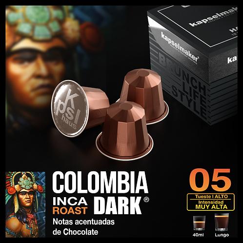 Colombia DARK -Tueste Alto / Intensidad Muy Alta - 10 Caps