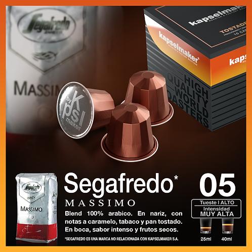 Segafredo Massimo - Tueste Alto / Intensidad Muy Alta x 10 Caps