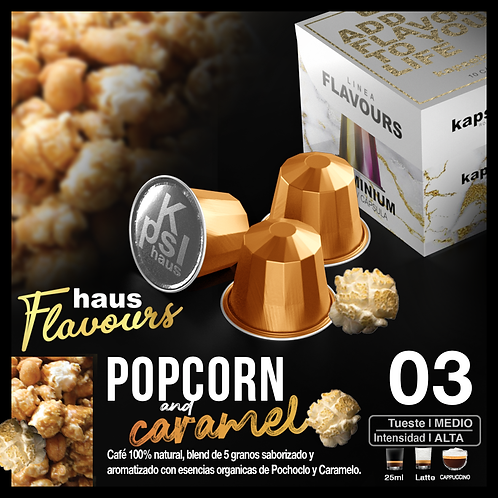 Flavour - PopCorn & Caramel x 10 Caps