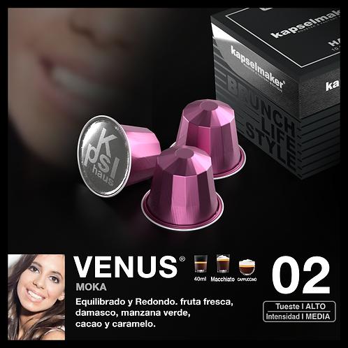 VENUS Moka Chocolate y fruta Tueste Alto / Intensidad Media 10u.