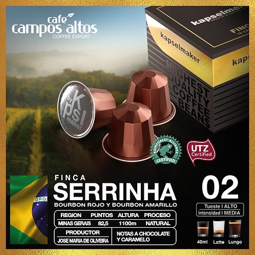 Brasil Serrinha , Fincas del Mundo - Cafe de especialidad x 10 Capsulas