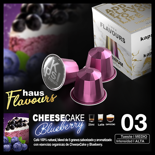 Flavour -CheeseCake Blueberry x 10 Caps