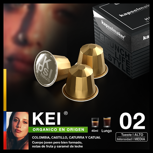 Kei - Cosecha Organica de Origen - Tueste Alto / Intensidad Media 10u.