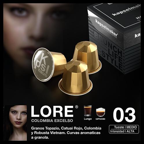 Lore - Lungo , Tueste Medio Intensidad Alta 10u.