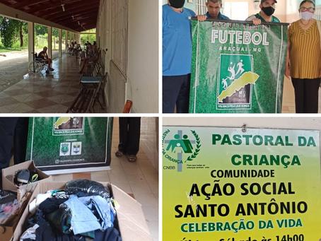 Doações entregues na Ação Social Araçuaí