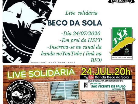 AKA apoia e contribui para Live Solidária do Beco de Sola