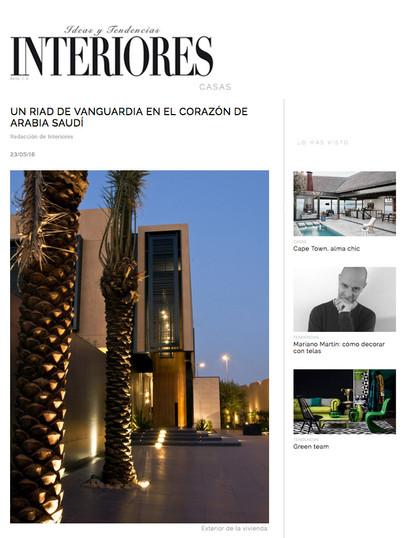 Interiores Magazine Title Amir Abourass
