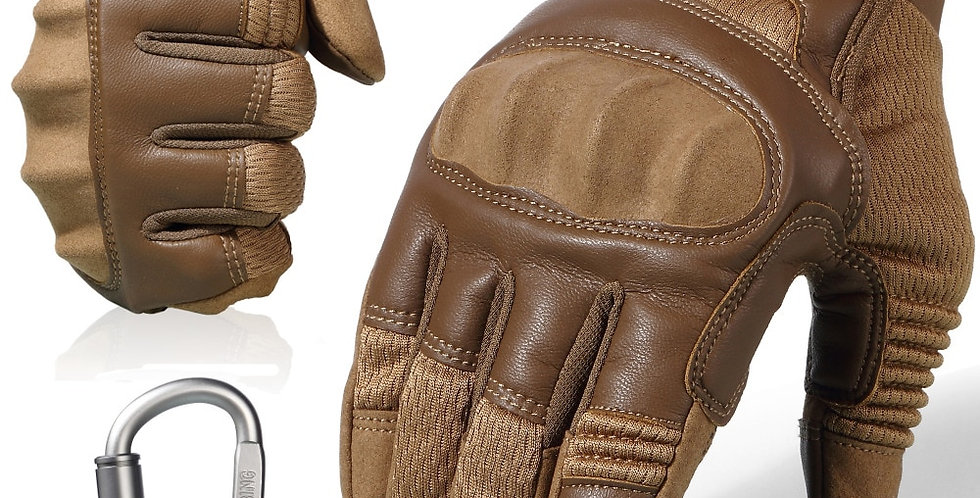 Touchscreen PU Leather Motorcycle Full Finger Gloves Protective