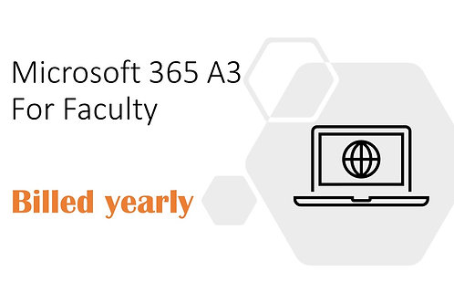 1 Year Subscription of Microsoft 365 A3 For Faculty