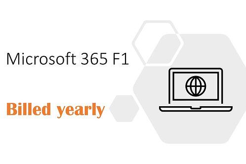 1 Year Subscription of Microsoft 365 F1