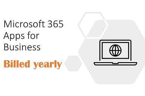 1 Year Subscription of Microsoft 365 Apps for Business
