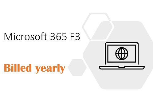 1 Year Subscription of Microsoft 365 F3