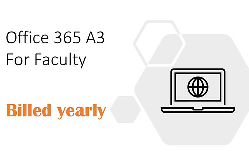 1 Year Subscription of Office 365 A3 For Faculty