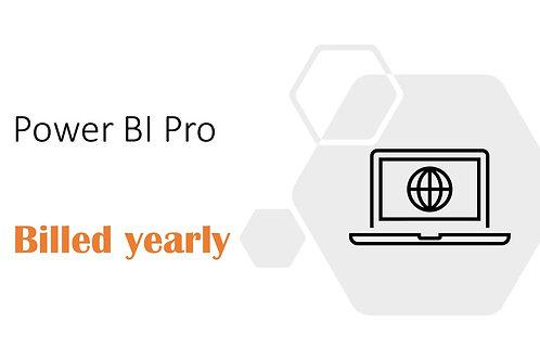 1 Year Subscription of Power BI Pro