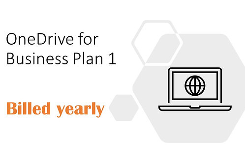 1 Year Subscription of OneDrive for Business Plan 1