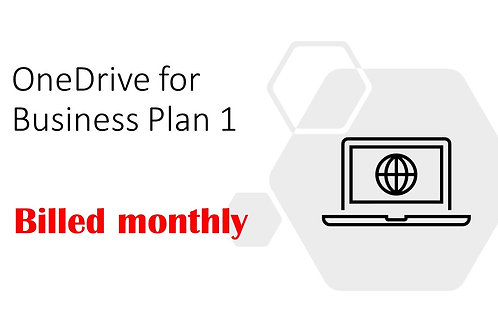 1 Month Subscription of OneDrive for Business Plan 1