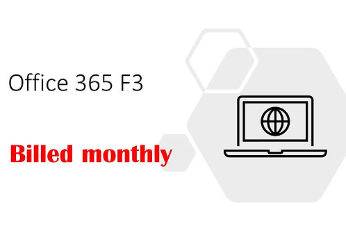 1 Month Subscription of Office 365 F3