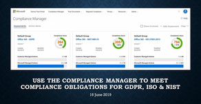 Use the Compliance Manager to Meet Compliance Obligations for GDPR, ISO & NIST