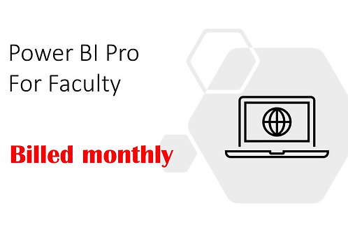 1 Month Subscription of Power BI Pro For Faculty