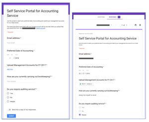 Self Service Portal for Accounting Service Using Google Forms