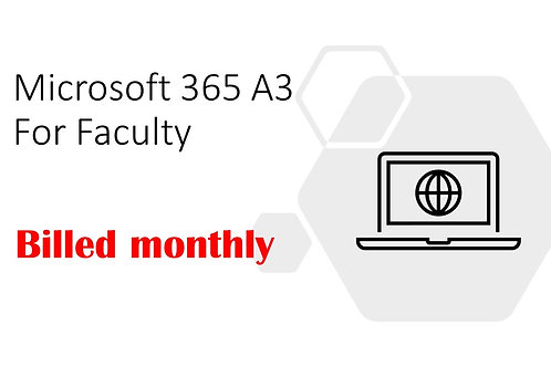 1 Month Subscription of Microsoft 365 A3 For Faculty