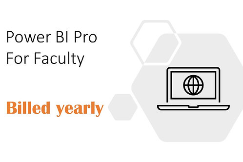 1 Year Subscription of Power BI Pro For Faculty