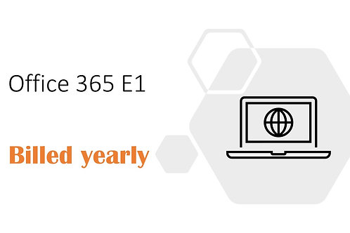 1 Year Subscription of Office 365 E1