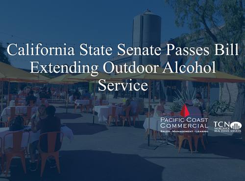 California State Senate Passes Bill Extending Outdoor Alcohol Service