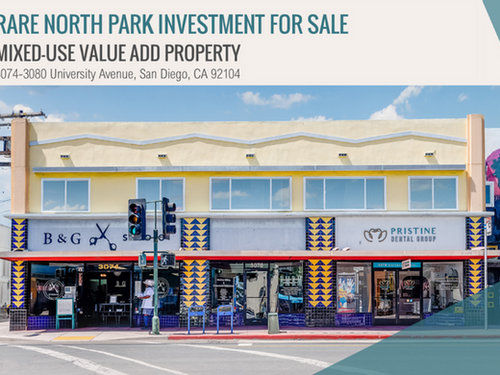 NEW ON MARKET! Rare North Park Investment for Sale | Mixed-Use Value Add Property