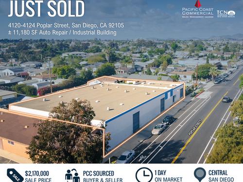 JUST SOLD! Auto Repair/Industrial Building | $2.17M
