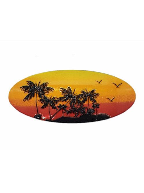 Sunset Beach 3D Sticker