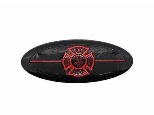 Fire Fighter 3D Overlay Emblem Ford Oval F150 Emblem