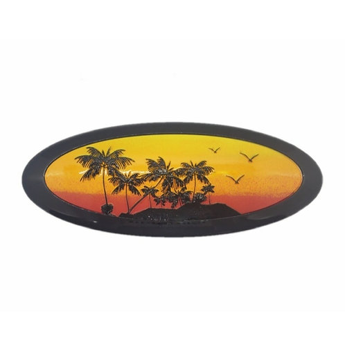 Sunset Beach 3D Overlay Emblem Ford Oval F150 Emblem