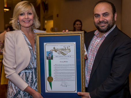 Conny Mathot, President/Founder of Dance Arts Foundation is recognized by the State of California.