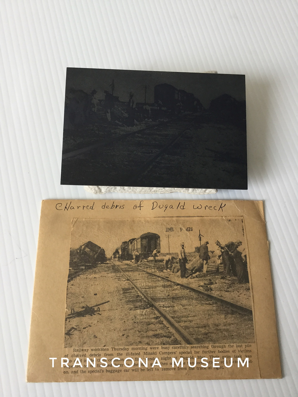Dugald Wreck printing plate